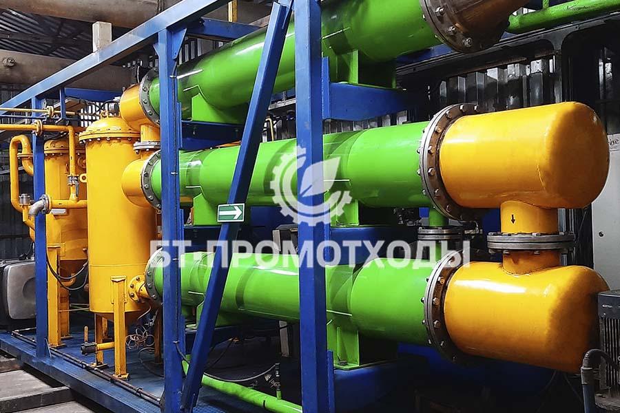 Блок конденсации установки пиролиза УТД-2