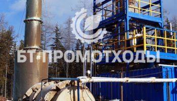 Циклонная печь утилизации стоков и технической воды