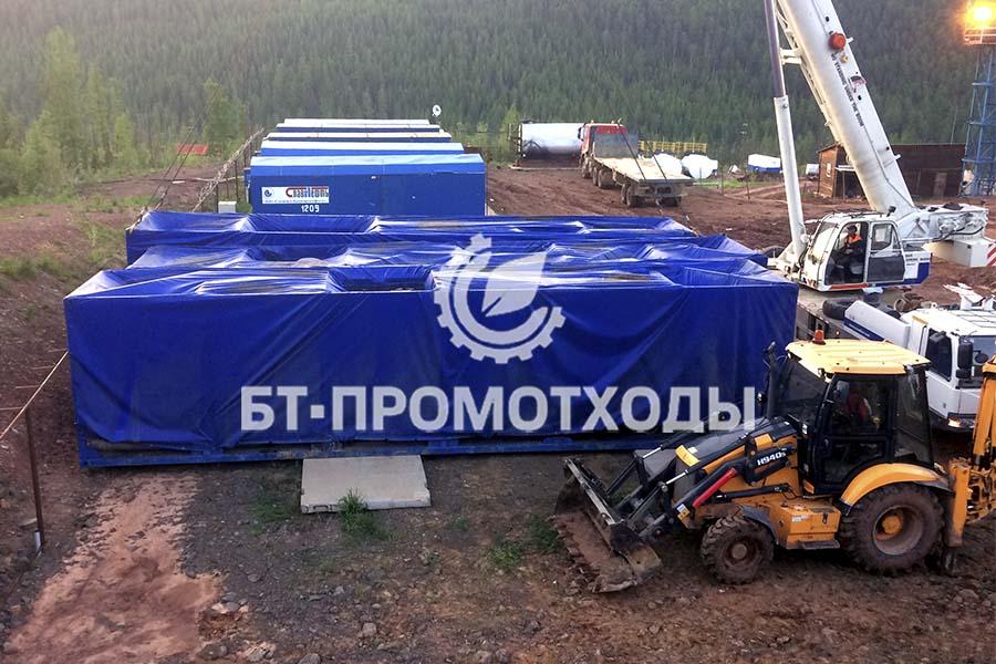 Монтаж цеха утилизации отходов на Куюмбинском месторождении