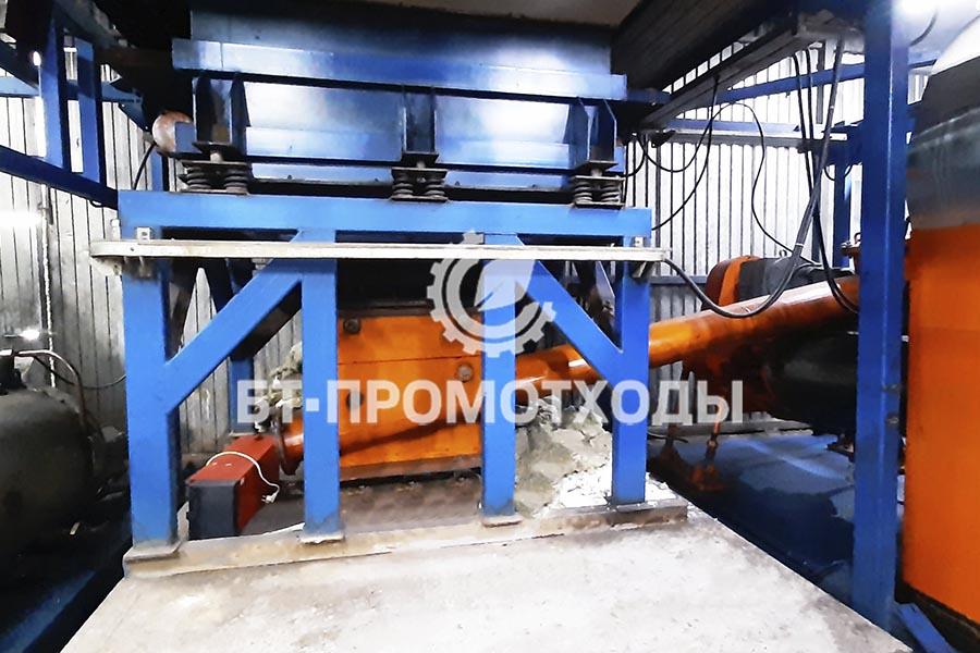 Блок загрузки промышленных отходов УТД-2