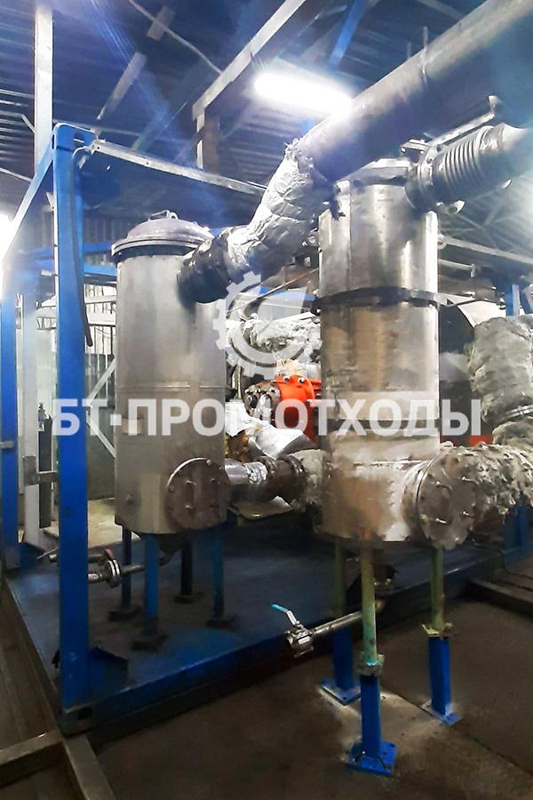 Фильтры пиролизных газов установки пиролиза УТД-2