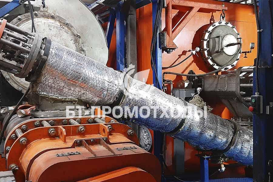 Перегружной конвейер установки утилизации отходов