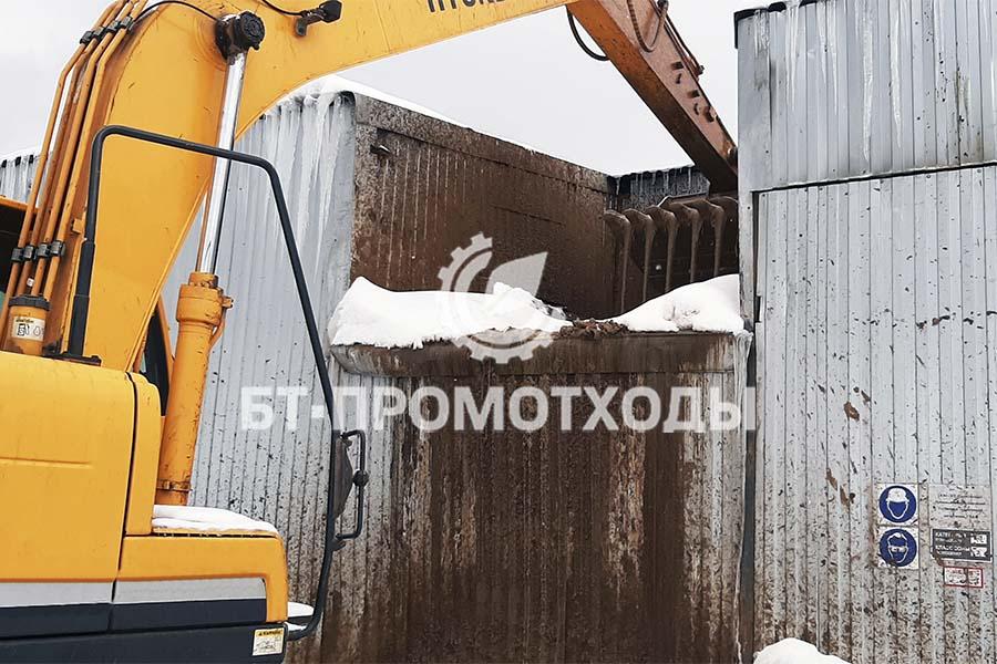 Подача отходов бурения на переработку