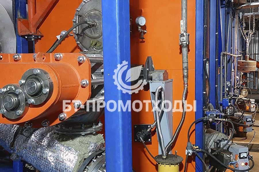 Реактор установки пиролиза отходов