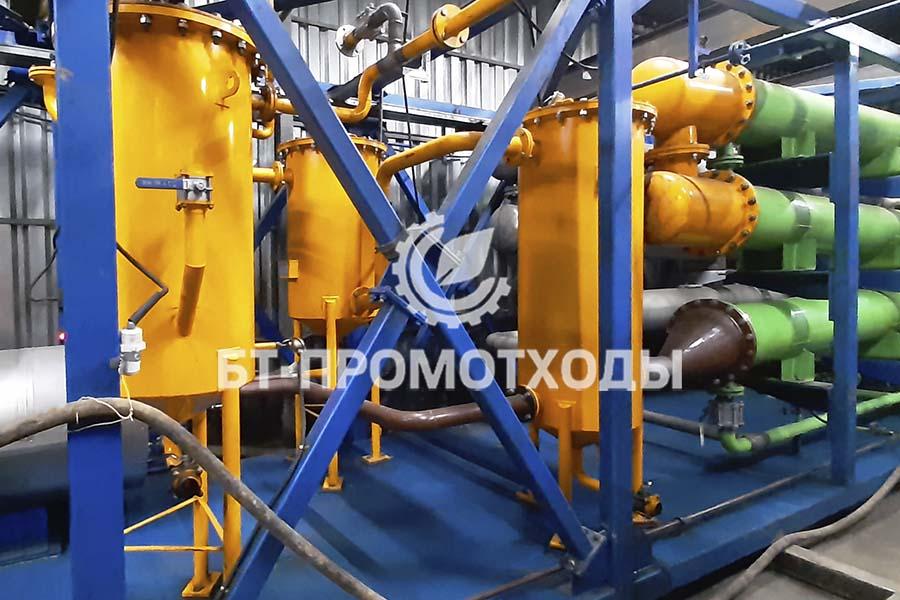 Система фильтров пиролизной установки