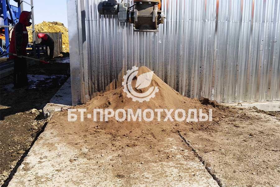 Продукт переработки отходов бурения - технический грунт