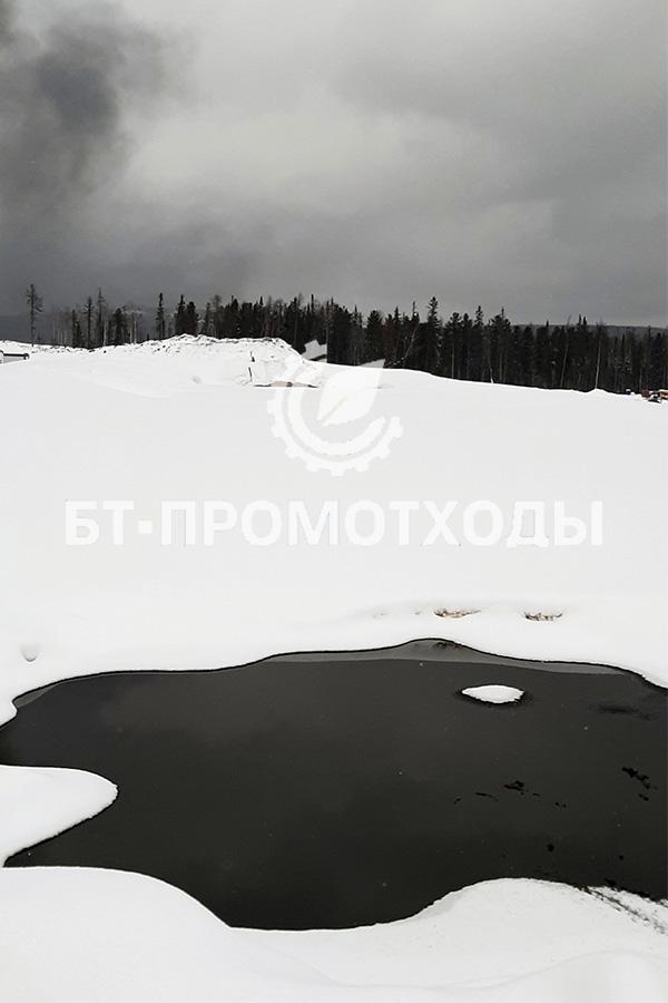 Временный амбар хранения нефтяных и буровых шламов